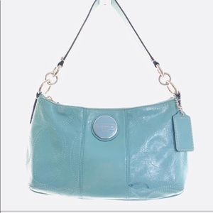 Coach F1541 Tiffany Blue Patent Leather Hobo